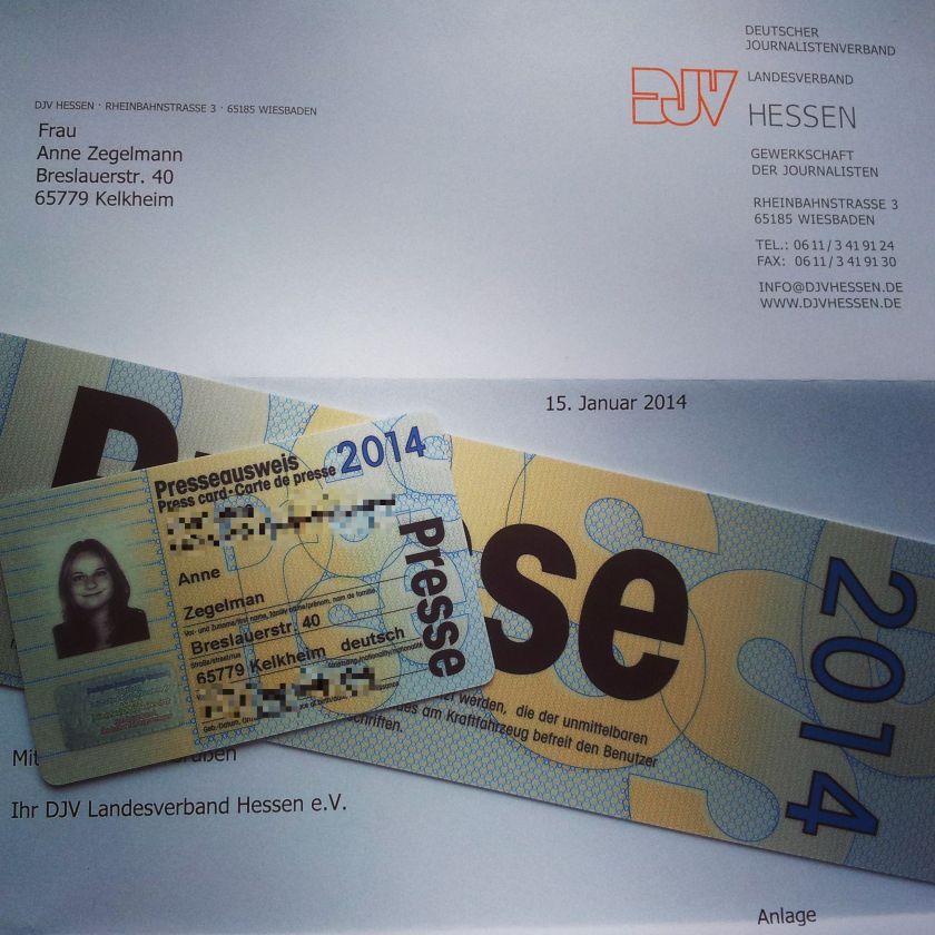 Presseausweis 2014