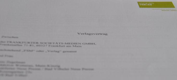 Verlagsvertrag