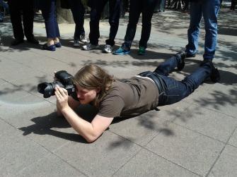 Unser Fotograf Robin Kehl gibt alles. Foto: Anne Zegelman