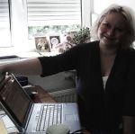 Anne beim Arbeiten