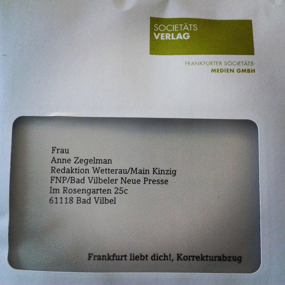 Korrekturfahne Umschlag