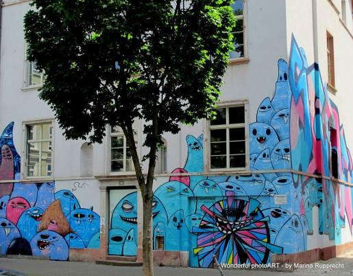 Das Graffiti-Haus in der Berger Straße ist die erste Anlaufstelle. Foto: Marina Rupprecht / Wonderful photoART