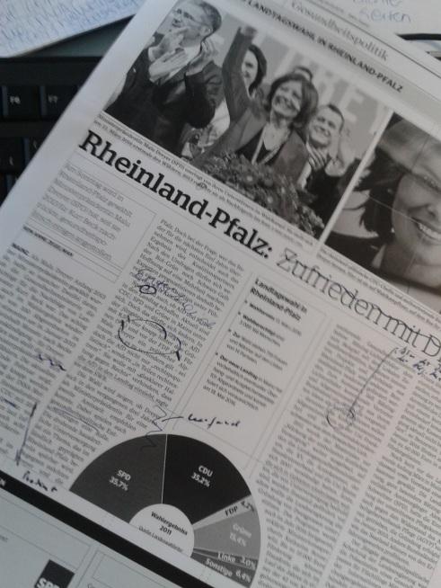 Wenn ich nicht gerade durch die Weltgeschichte toure, dann bin ich von meinem Schreibtisch in Neu-Isenburg zuständig für die Gesundheitspolitik in Rheinland-Pfalz. Hier zu sehen ist meine Sonderseite zur rheinland-pfälzischen Landtagswahl.