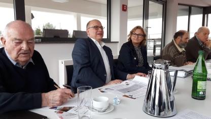 Pressekonferenz der Stadt Kelkheim mit Bürgermeister Albrecht Kündiger und Kulturdezernentin Dr. Beate Matuschek.