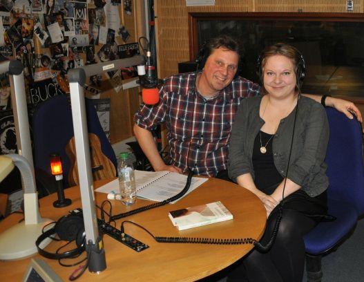 Micha und Anne im Radio-Studio.