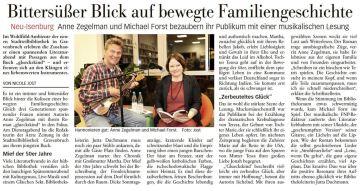 Die FNP Neu-Isenburg berichtet über unseren Auftritt in Gravenbruch.
