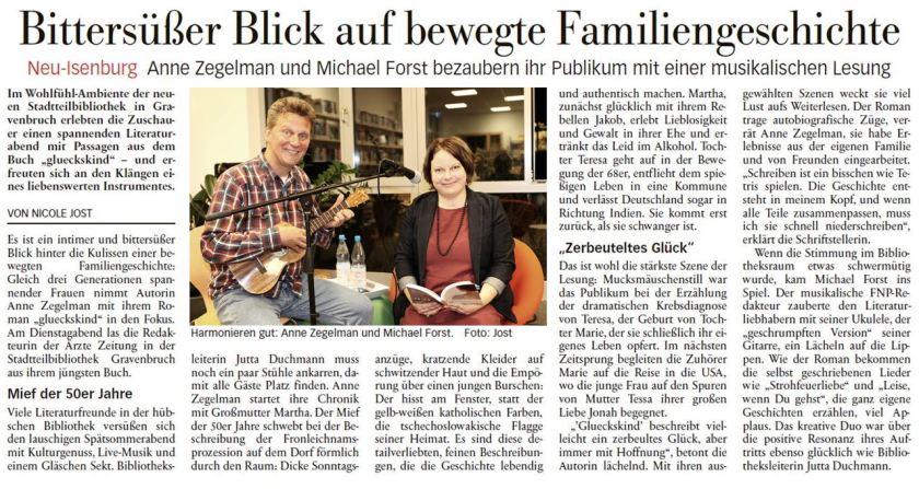 Artikel in der Neu-Isenburger Neuen Presse, 06.09.18