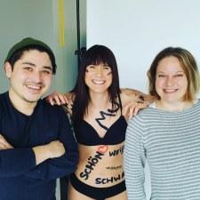 Zum Beispiel bei einem Shooting und Interview mit Body-Positivity-Bloggerin Luisa Dellert (und meinem Kollegen Philipp) in Berlin.